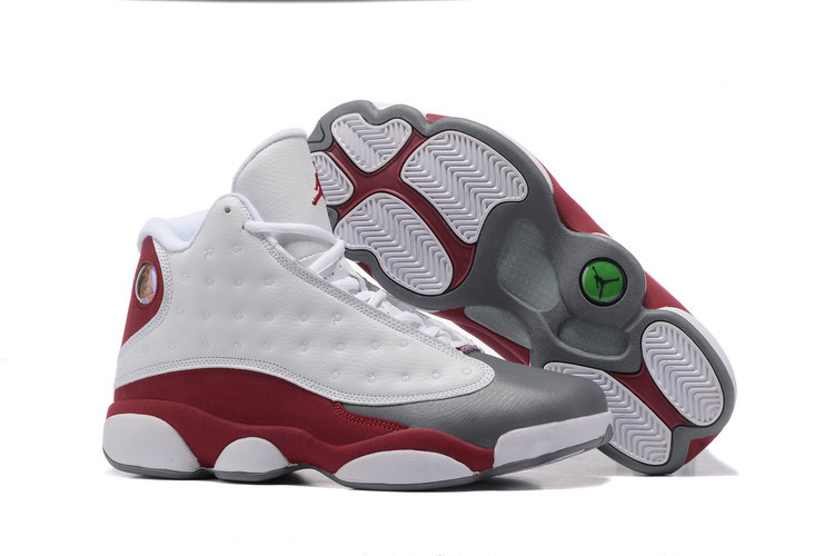 New Jordans 13 Retro Grey White Wine Red Shoes