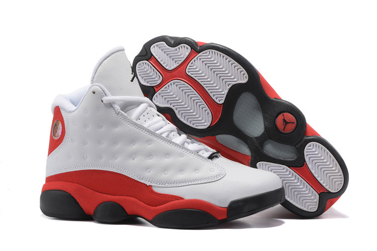 New Jordans 13 Retro White Red Shoes