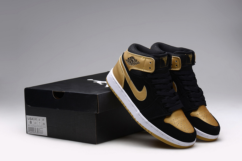 New Jordans 1 Retro Anthony Black Gold Sneaker