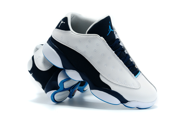 New Jordans 13 Retro Low White Black Blue Shoes