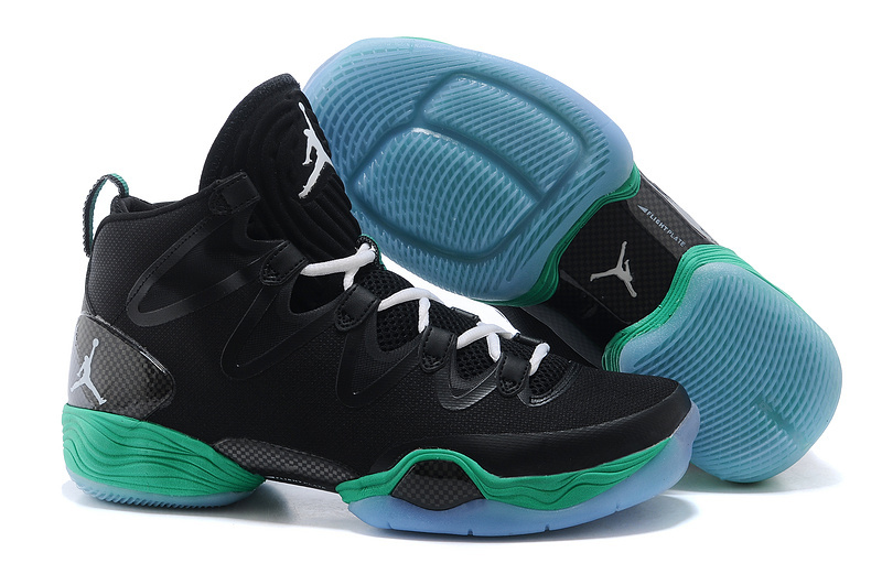 New Jordans 28 Black Green Sneaker
