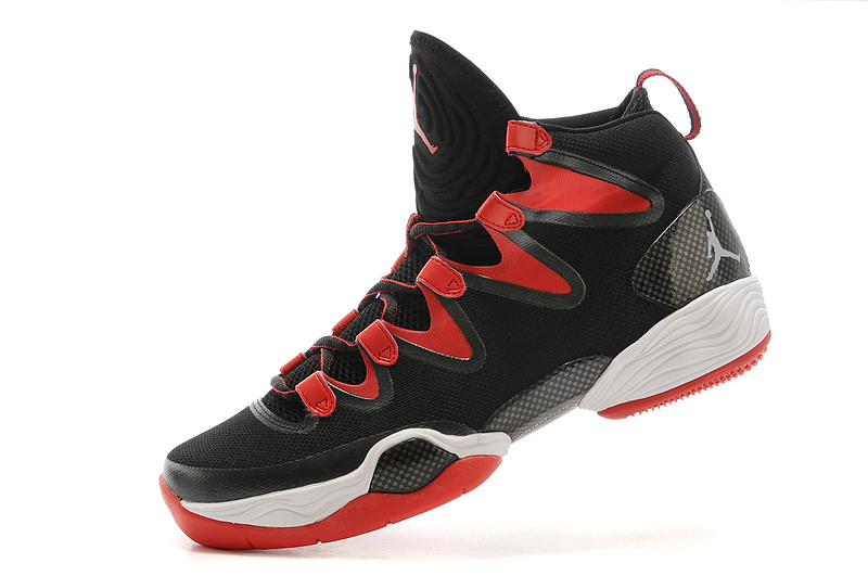 New Jordans 28 Black Red White Sneaker