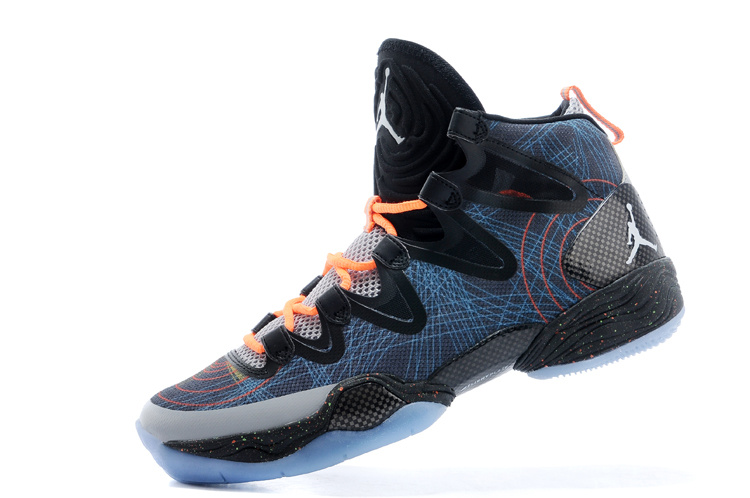 New Jordans 28 Blue Black Orange Sneaker