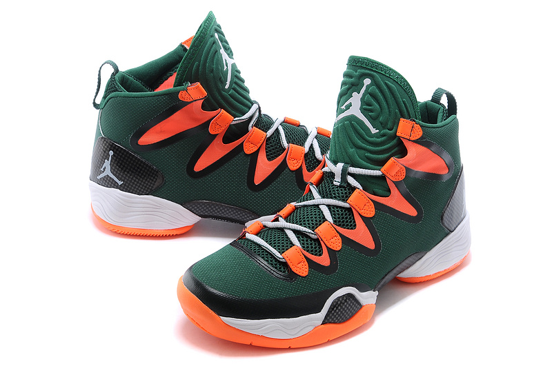 New Jordans 28 Green Orange White Sneaker
