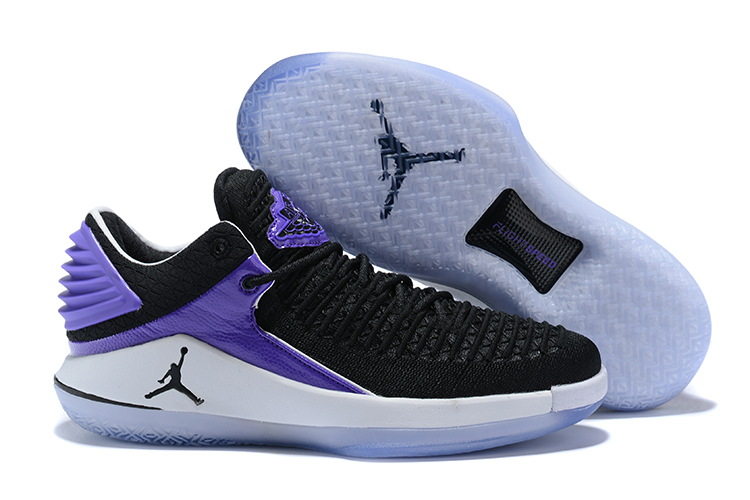 2018 Jordans 32 Black Purple Shoes For Sale