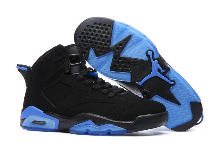 New Jordans 6 Black Blue Shoes