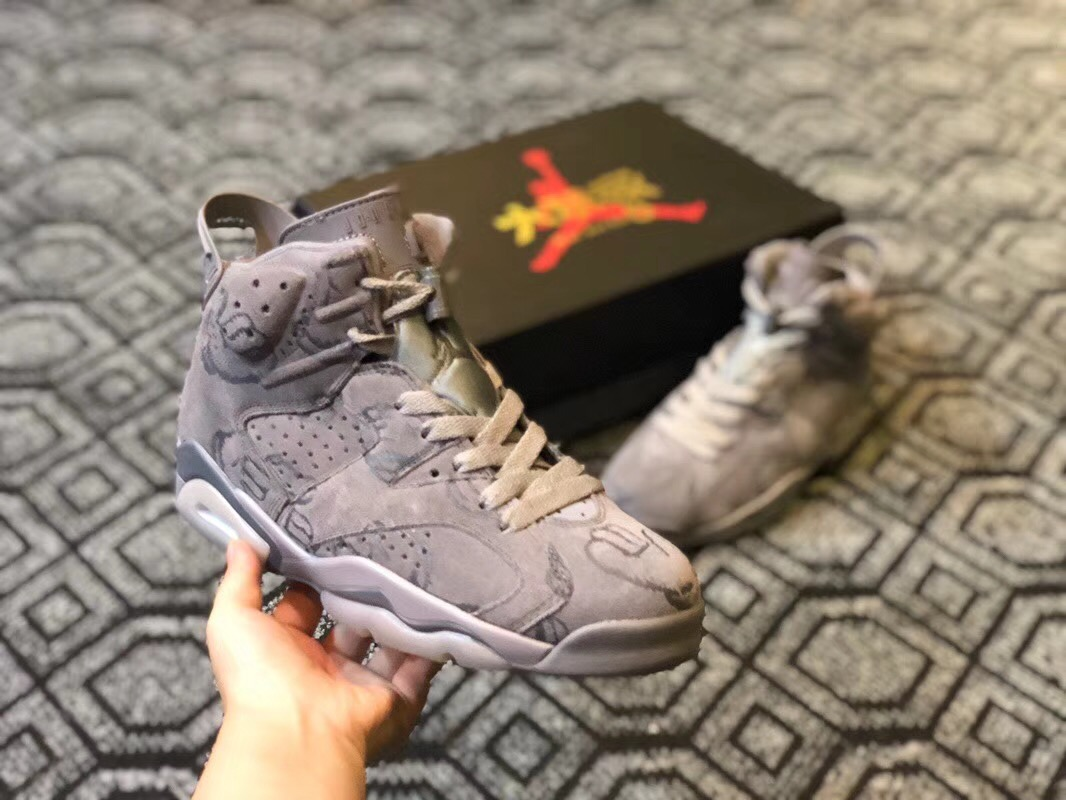 New Jordans 6 KAWS X Painting Shoes