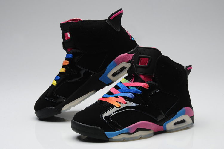 New Jordans 6 Original Colorful Black For Women