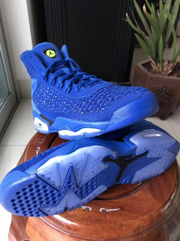 New Jordans 6 Weave All Blue Shoes For Sale