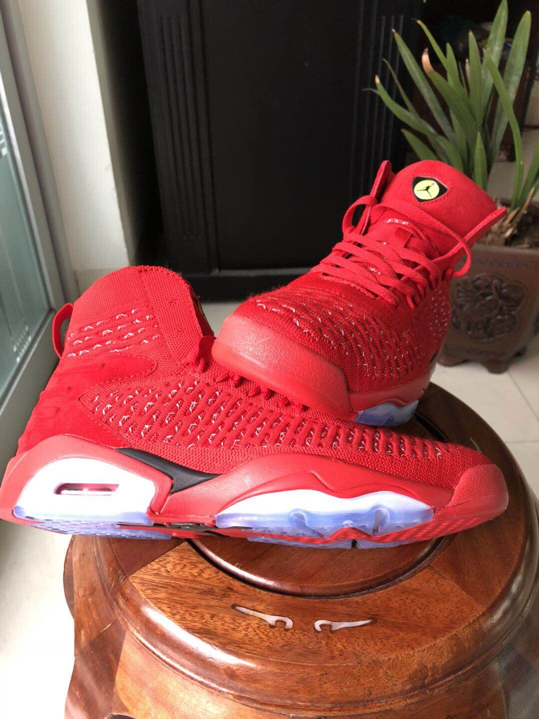 New Jordans 6 Weave All Red Shoes For Sale