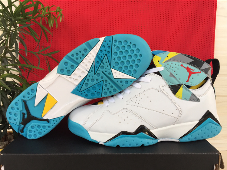 Real Newest Jordans 7 Classic All White On Cheap Sale
