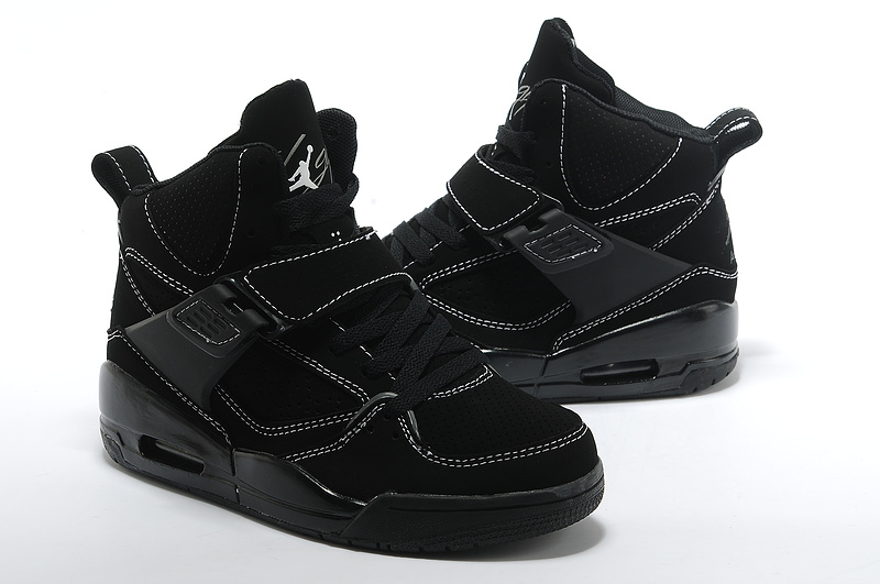 New Jordans Flight 4.5 Classic All Black For Women_05