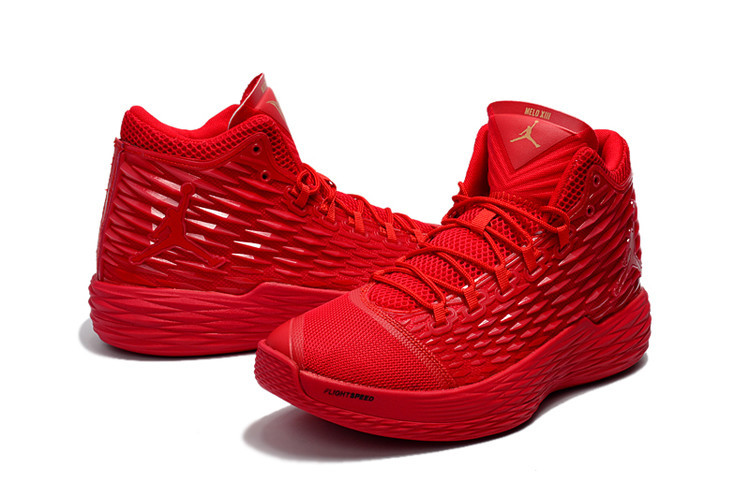New Jordans Melo All Red Shoes