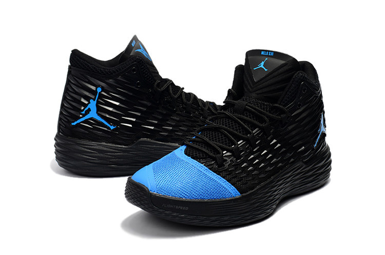 New Jordans Melo Black Blue Shoes