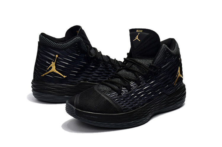 New Jordans Melo Black Grey Shoes