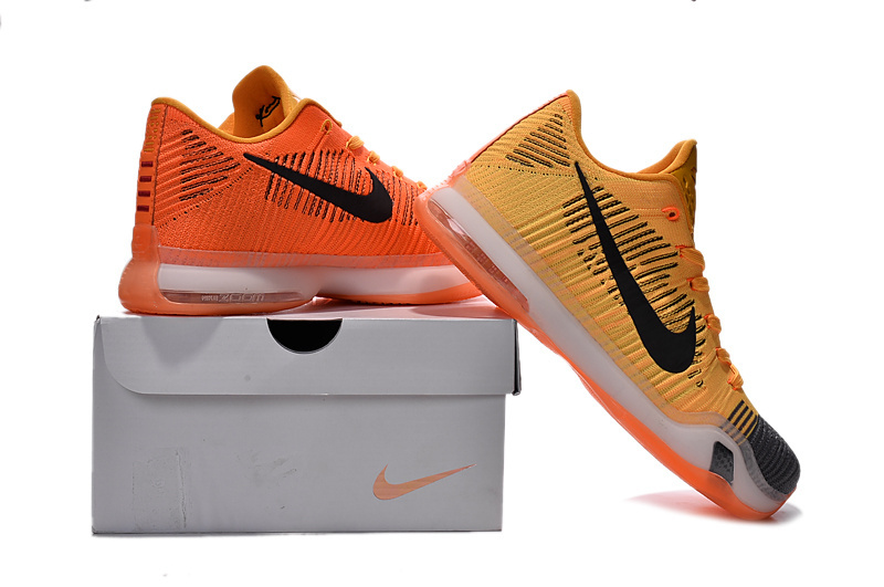 Nike Kobe 10 Knit Yellow Black Sneaker