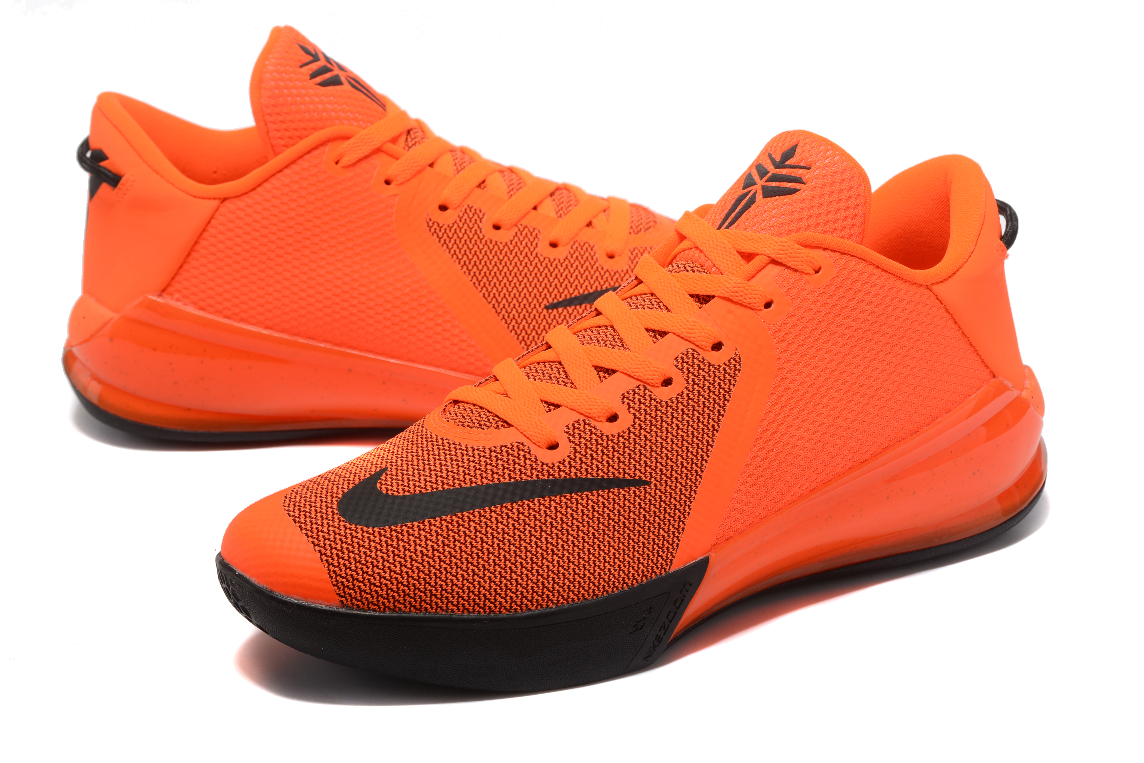 New Kobe Venomenon 6 Orange Black Shoes