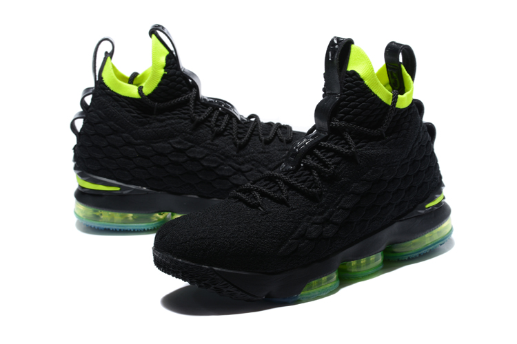 New Lebron 15 Black Fluoresecent Green Shoes
