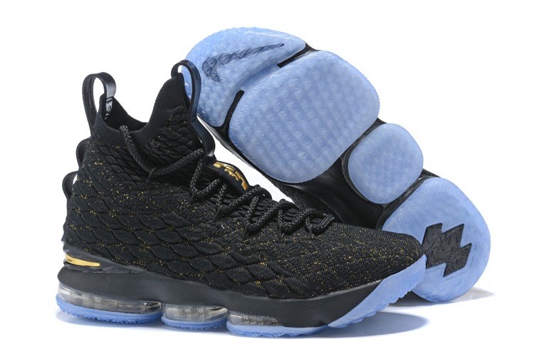 New Lebron 15 Black Gloden Gloden Shoes