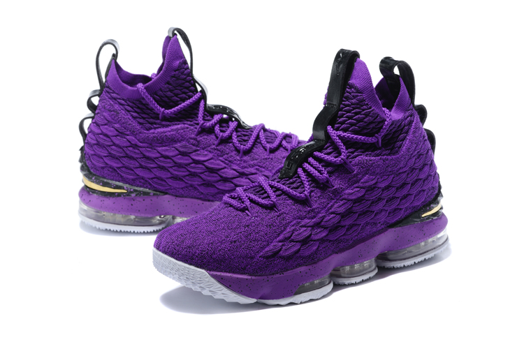 New Lebron 15 Purple Black Shoes