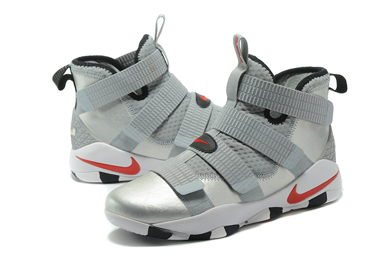 New Lebron Solider 11 Metal Sliver Shoes