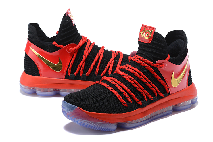 New Nike Durant 10 Black Red Shoes
