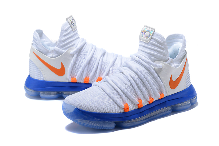 New Nike Durant 10 White Blue Orange SHoes