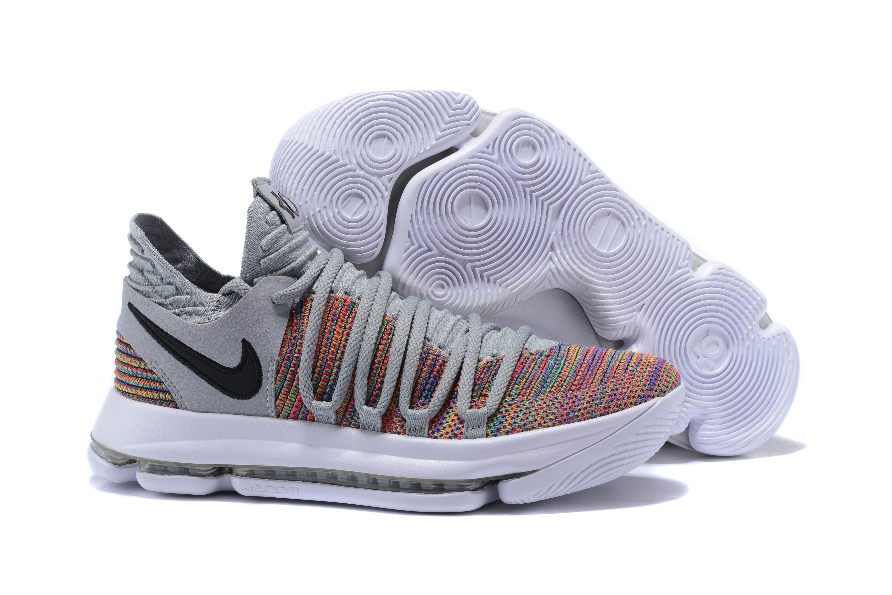 2018 KD 10 Grey Colorful Shoes For Sale