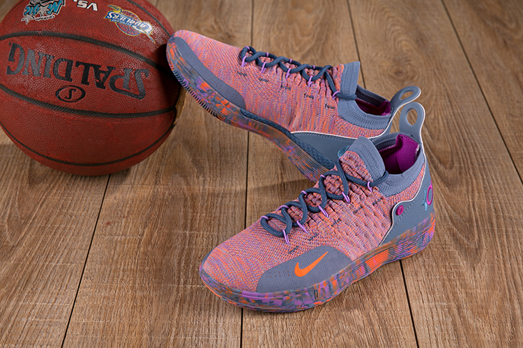 2018 KD 11 Pink Blue Basketball Shoes For Sale