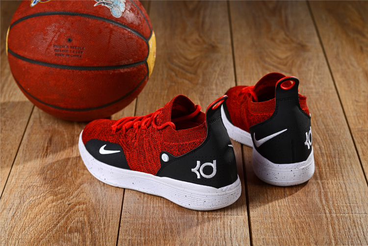 2018 KD 11 Red Black White Swoosh Basketball Shoes For Sale