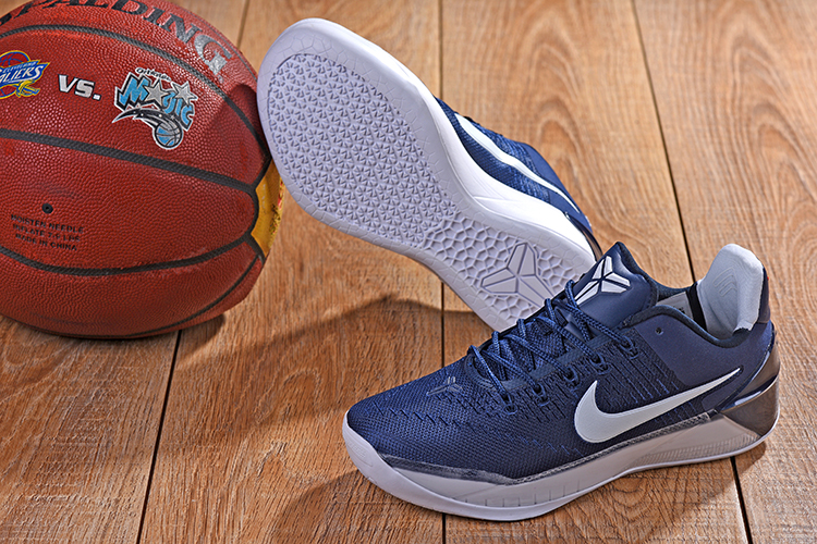 2018 Kobe AD Dark Blue White Shoes For Sale