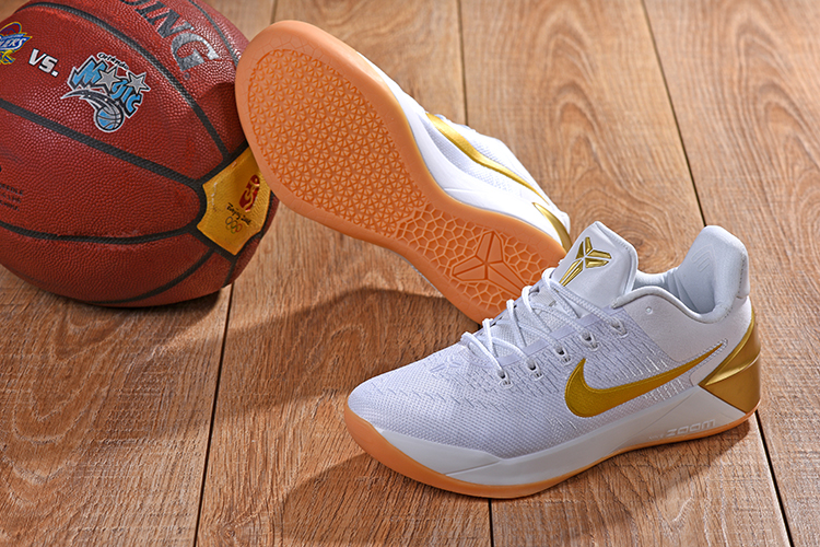 2018 Kobe AD White Gloden Shoes For Sale