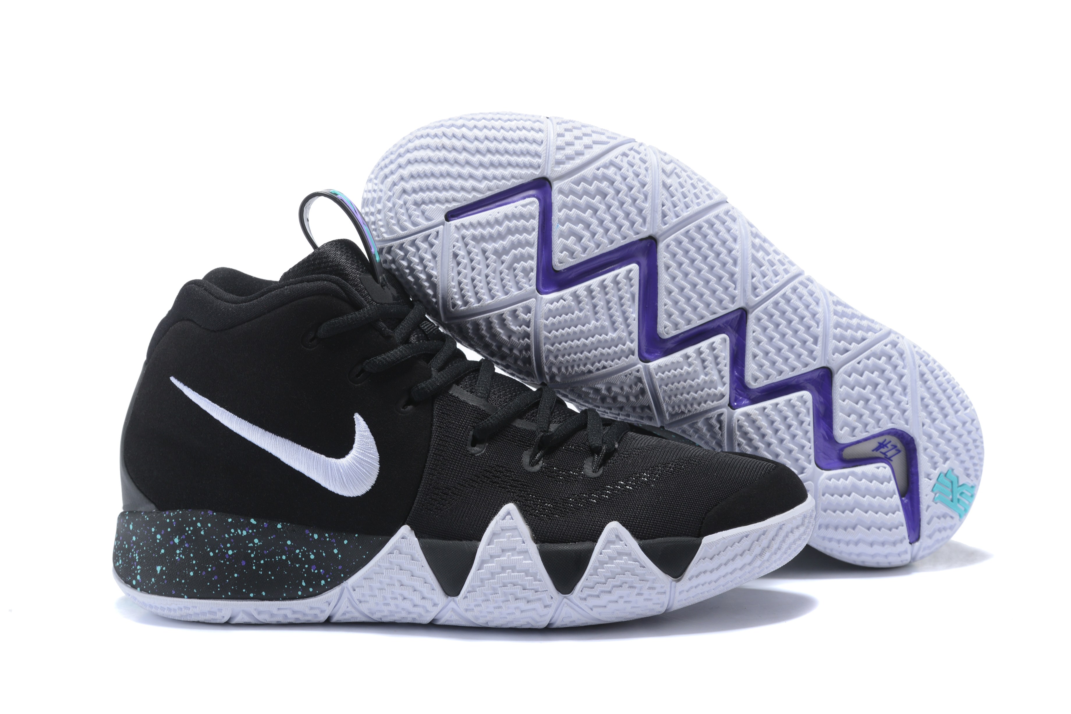 New Nike Kyrie 4 Black White Shoes