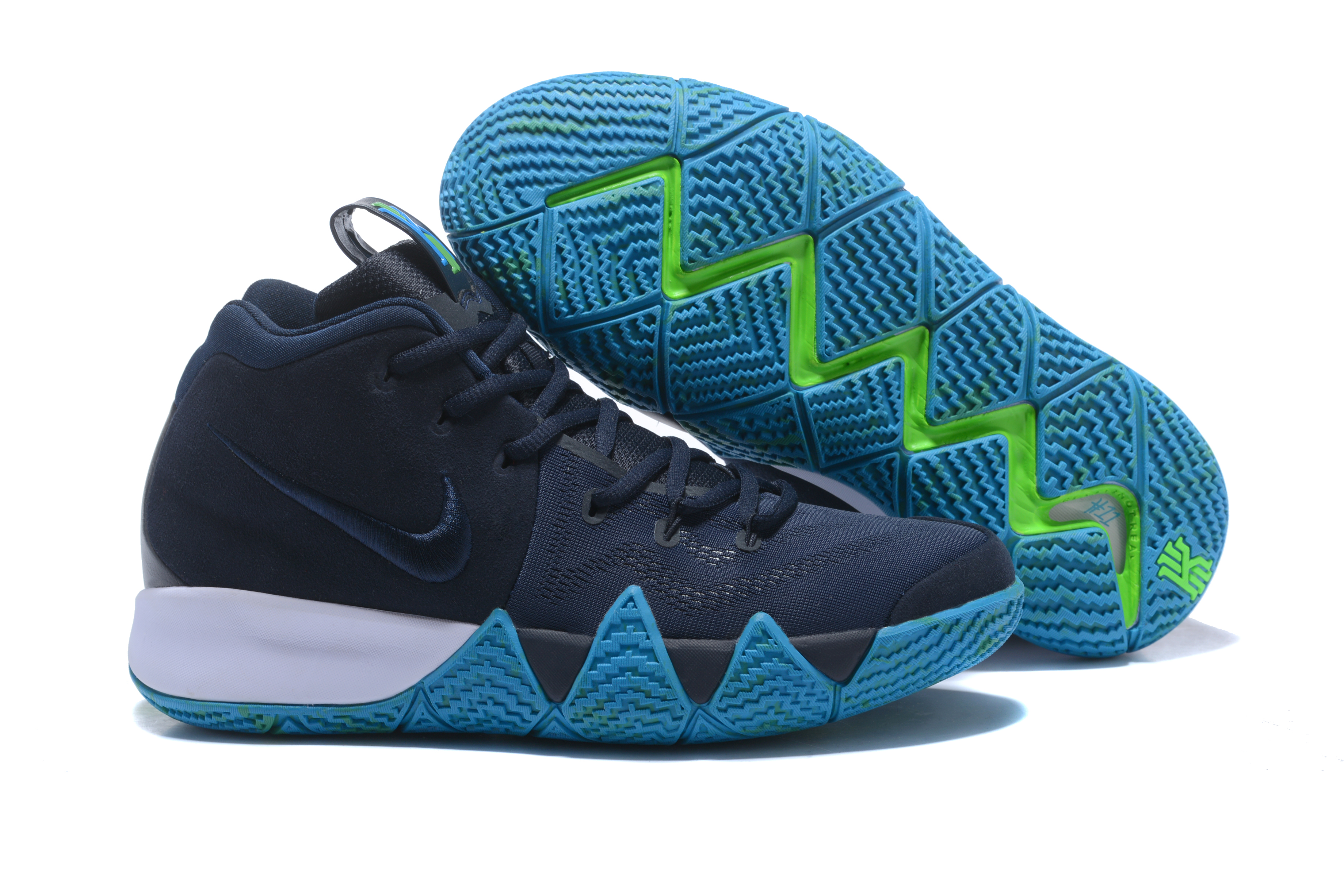 New Nike Kyrie 4 Dark Blue Jade Shoes