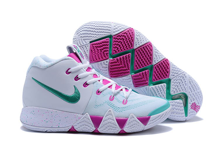 2018 Kyrie 4 White Fuschia Mint Green Shoes For Sale