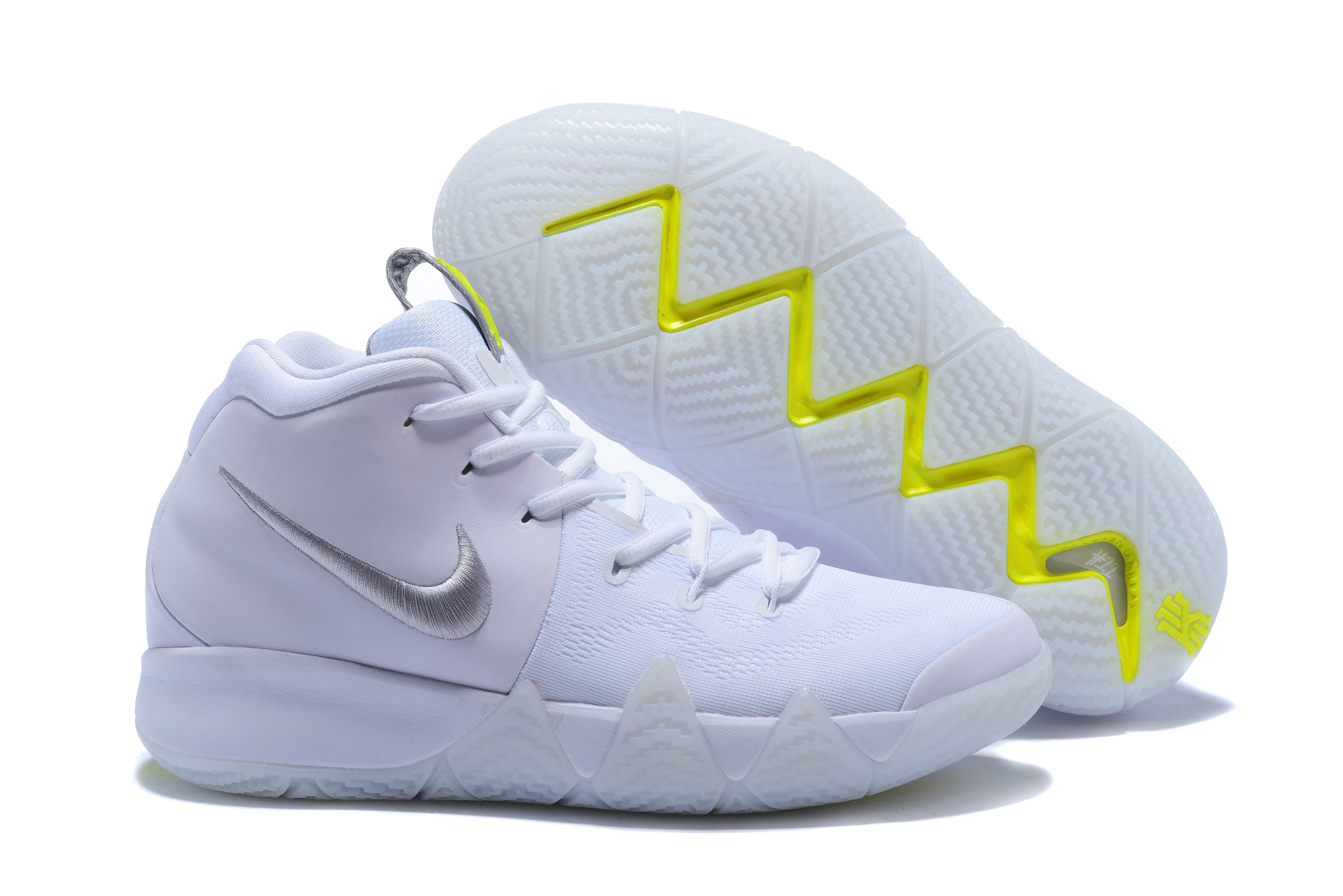 2018 Kyrie 4 White Sliver Shoes For Sale