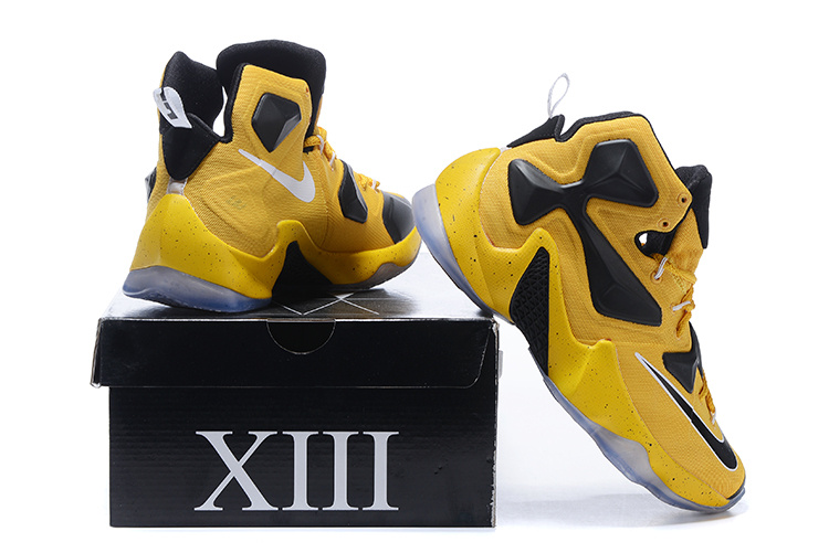 8aa52bf9ccc Nike Lebron 13 Yellow Black Basketball Shoes  JORDAN1941  -  85.00 ...