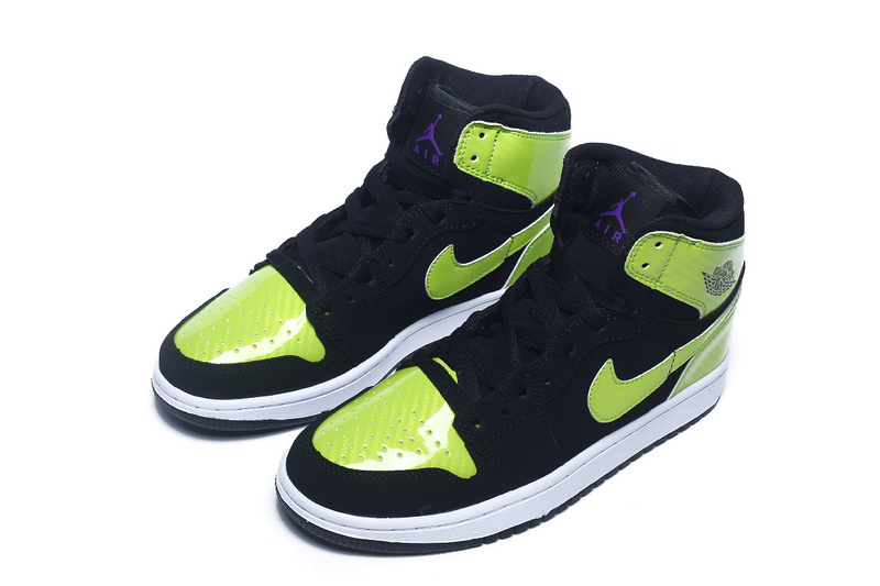 2016 Air Jordan 1 Retro Black Fluorscent Green For Women