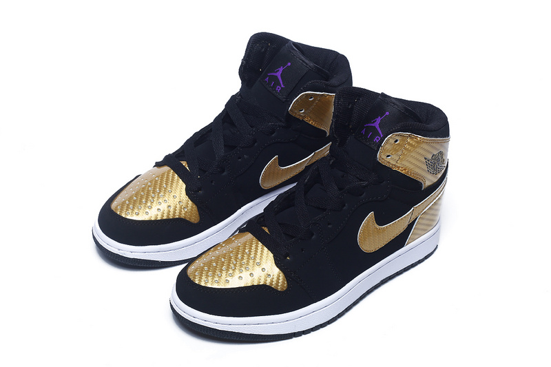 2016 Air Jordan 1 Retro Black Gold For Women