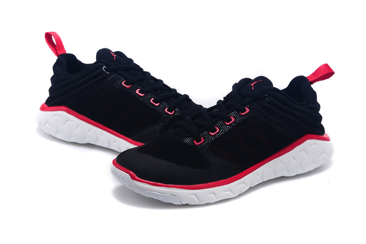 New Women Air Jordan Runnings Shoes Black Red White