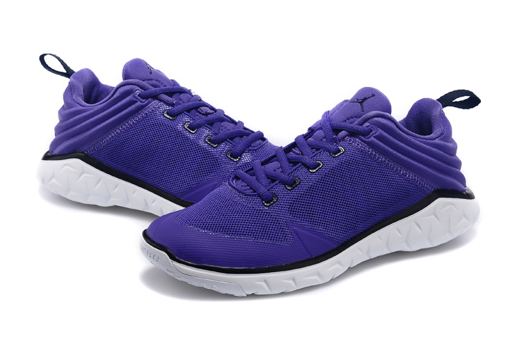 New Women Air Jordan Runnings Shoes Purple White