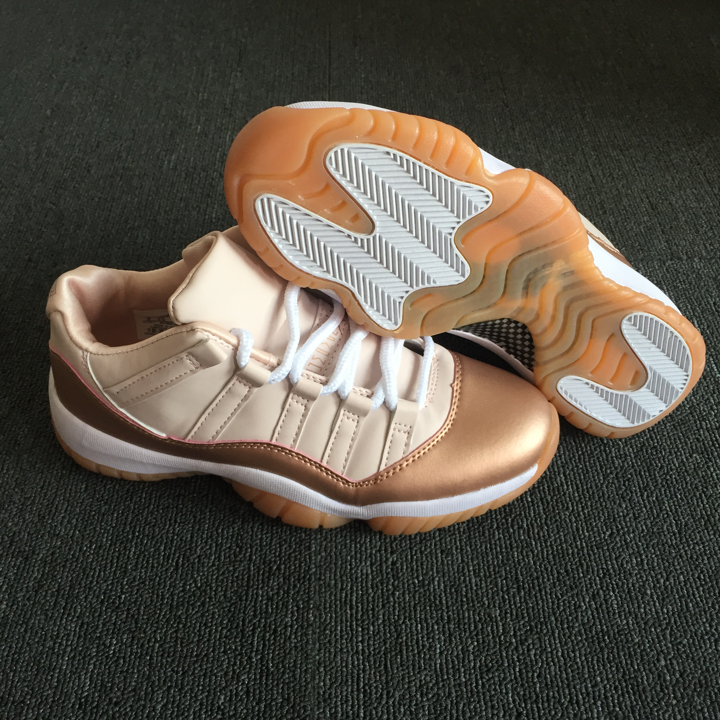 New Women Jordans 11 Rose Glod Shoes For Sale