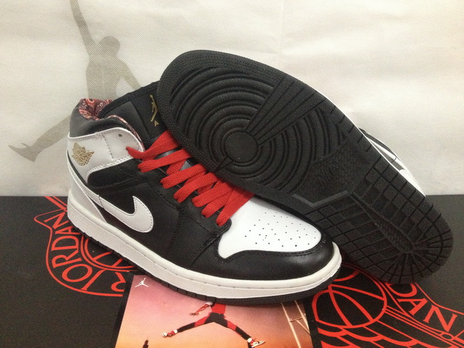 Newest Air Jordan 1 Classic Black White Red