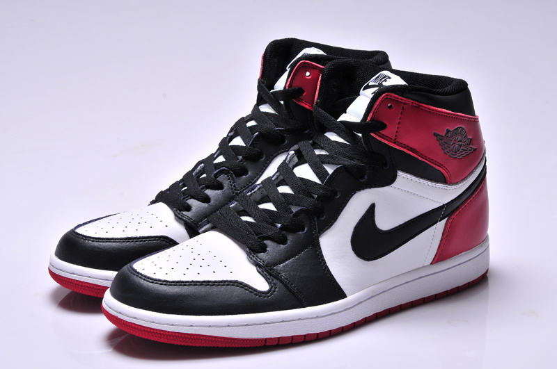 Newest Air Jordan 1 High Black Retro White Red Shoes