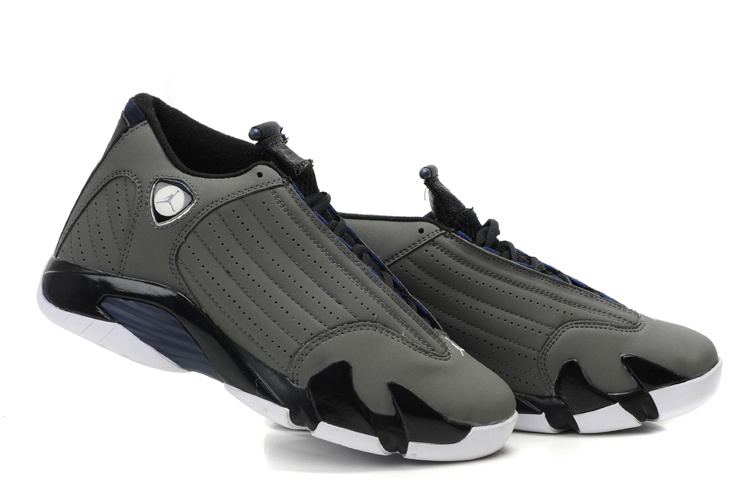Newest Air Jordan 14 Classic Grey Black White