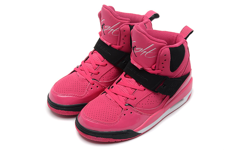 Newest Air Jordan Flight 4.5 Retro Pink Black For Women_05