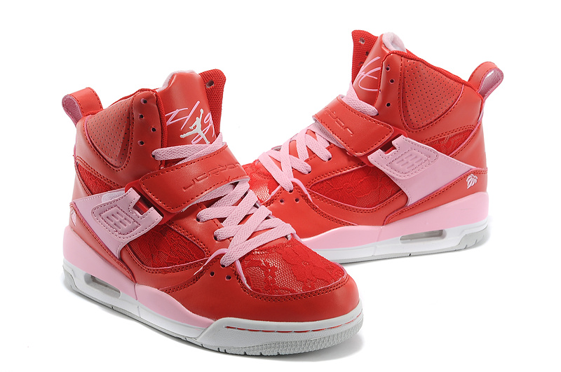 Newest Air Jordan Flight 4.5 Retro Red Pink White For Women_05