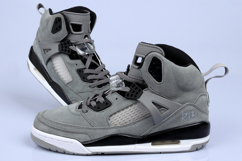 Newest Air Jordan Spizike Classic Grey Black White For Women