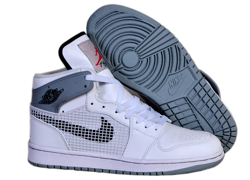 Newest Air Jordans 1 Classic 89 White Grey