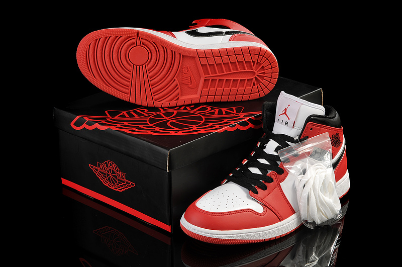 Newest Air Jordans 1 Retro White Red
